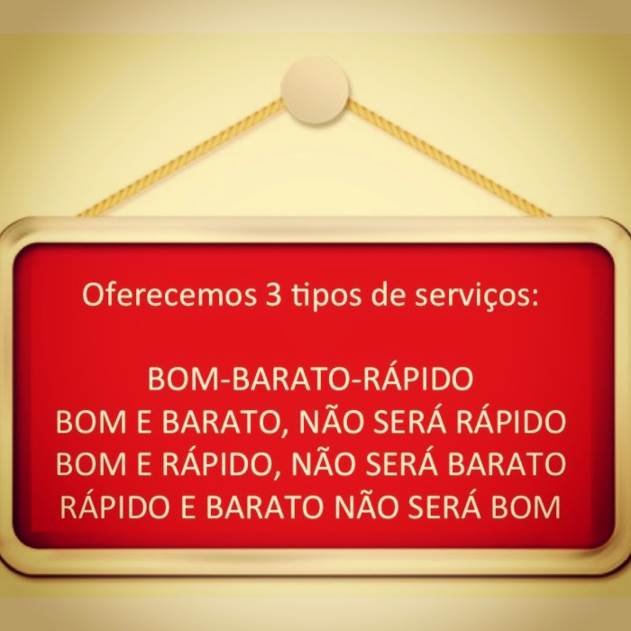 3 tipos de serviços